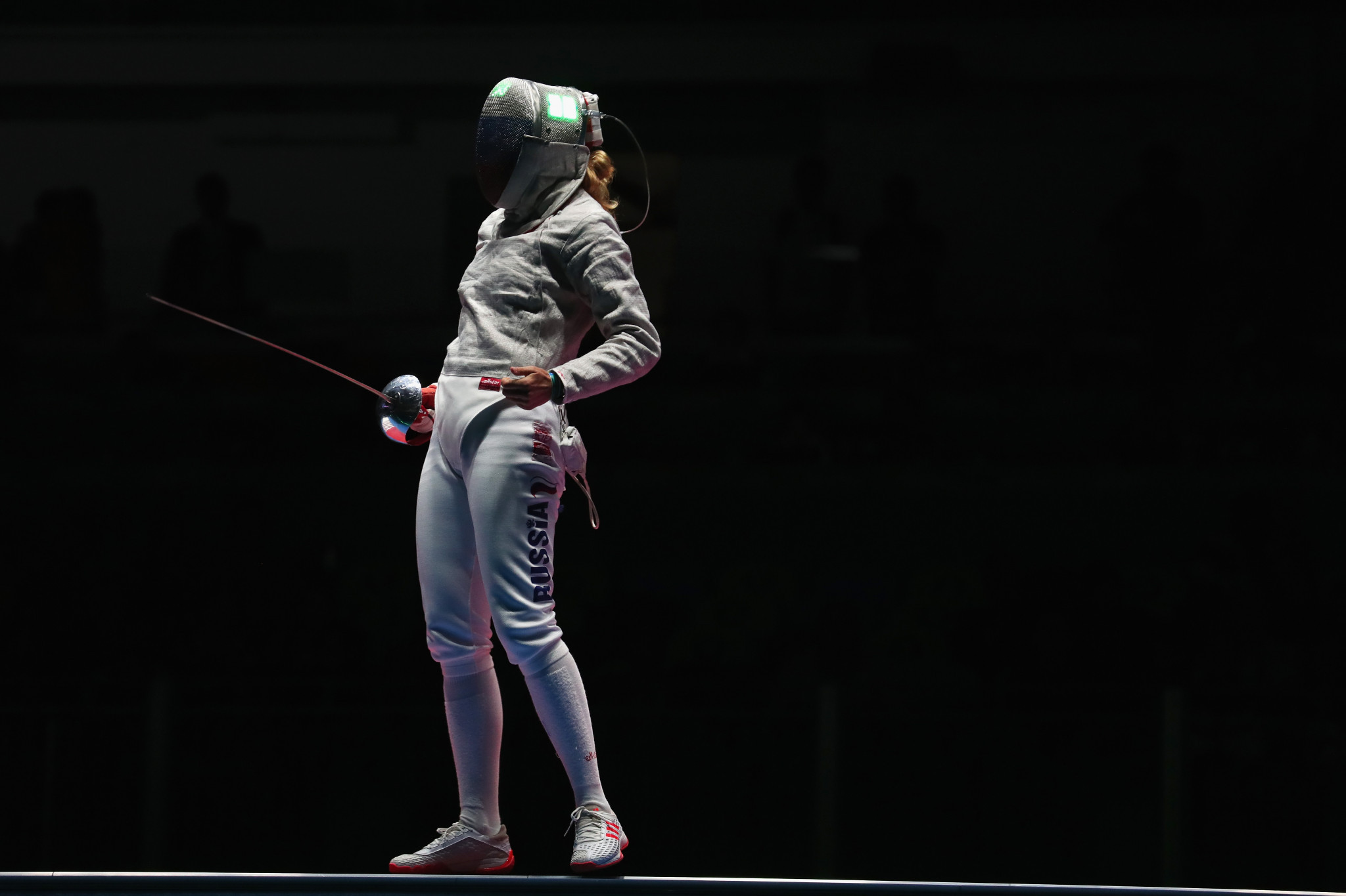 Olympic champion Yana Egorian won the women's individual sabre title at the World Military Games ©Getty Images