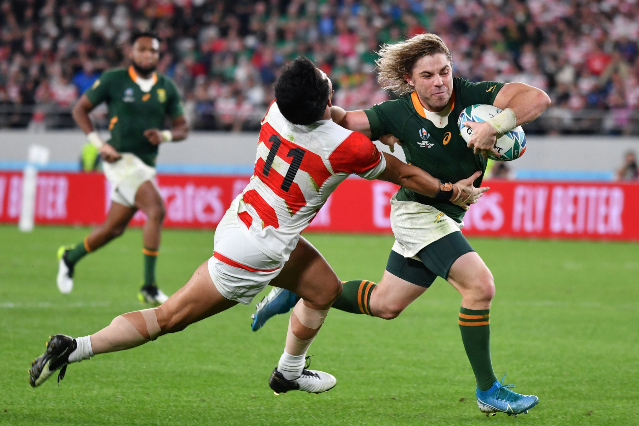 South Africa defeated Japan to reach the Rugby World Cup semi-final ©Getty Images