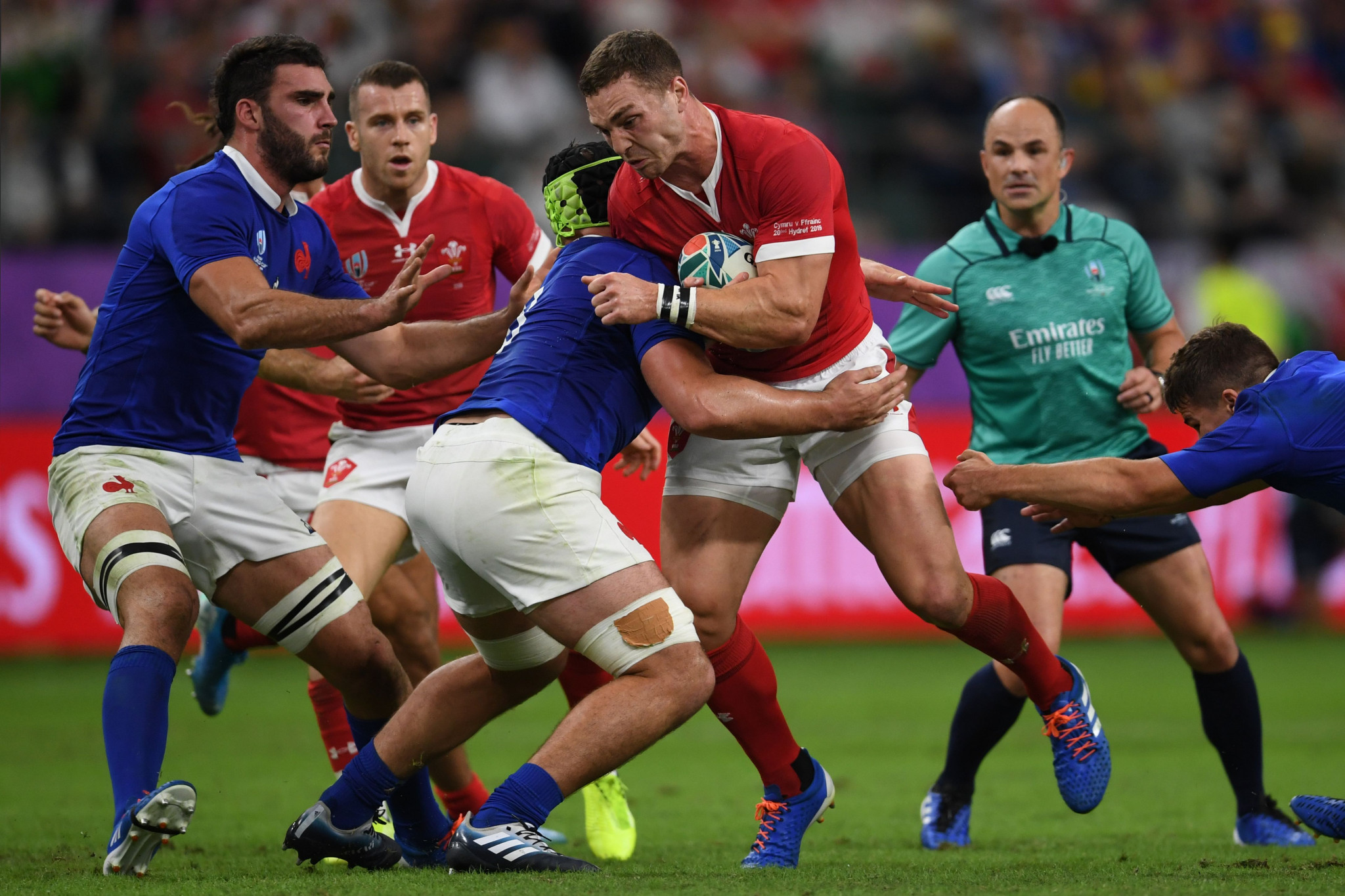 Wales narrowly beat France to set up a semi-final clash with South Africa at the Rugby World Cup ©Getty Images