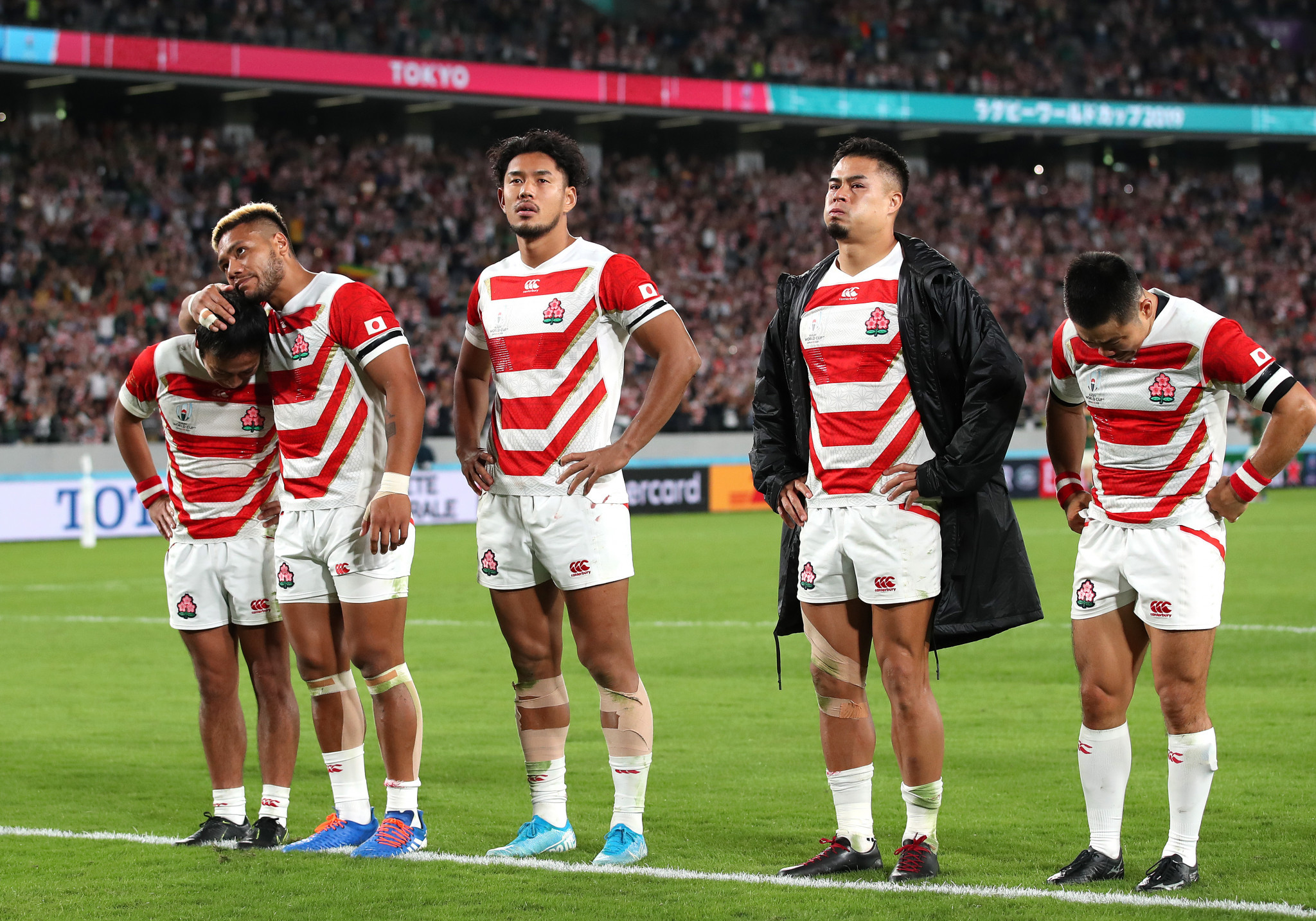 There were tears and tributes as Japan exited the Rugby World Cup ©Getty Images