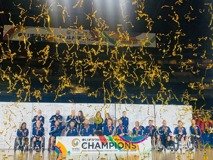 The United States won the World Wheelchair Rugby Challenge in Tokyo ©USA Wheelchair Rugby