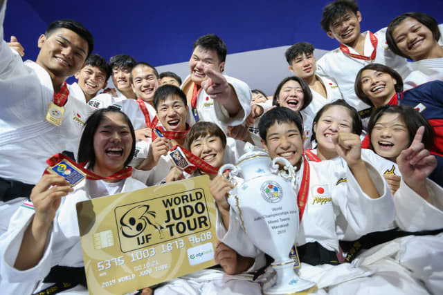 Japan were crowned the mixed team gold medallists at the IJF World Junior Championships ©IJF