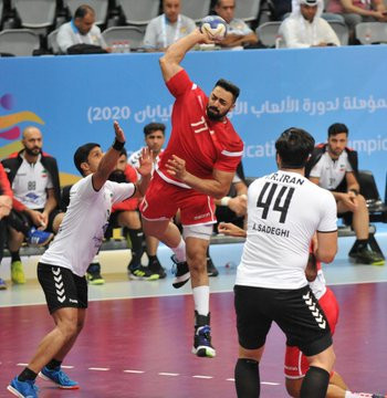 Bahrain beat Iran today at the Asian Men's Handball Olympic Qualification Tournament for Tokyo 2020 ©Asian Handball Federation/Twitter