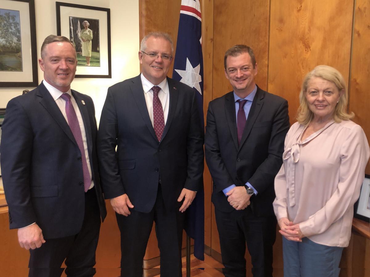 IPC President meets Prime Minister Morrison during Australia visit