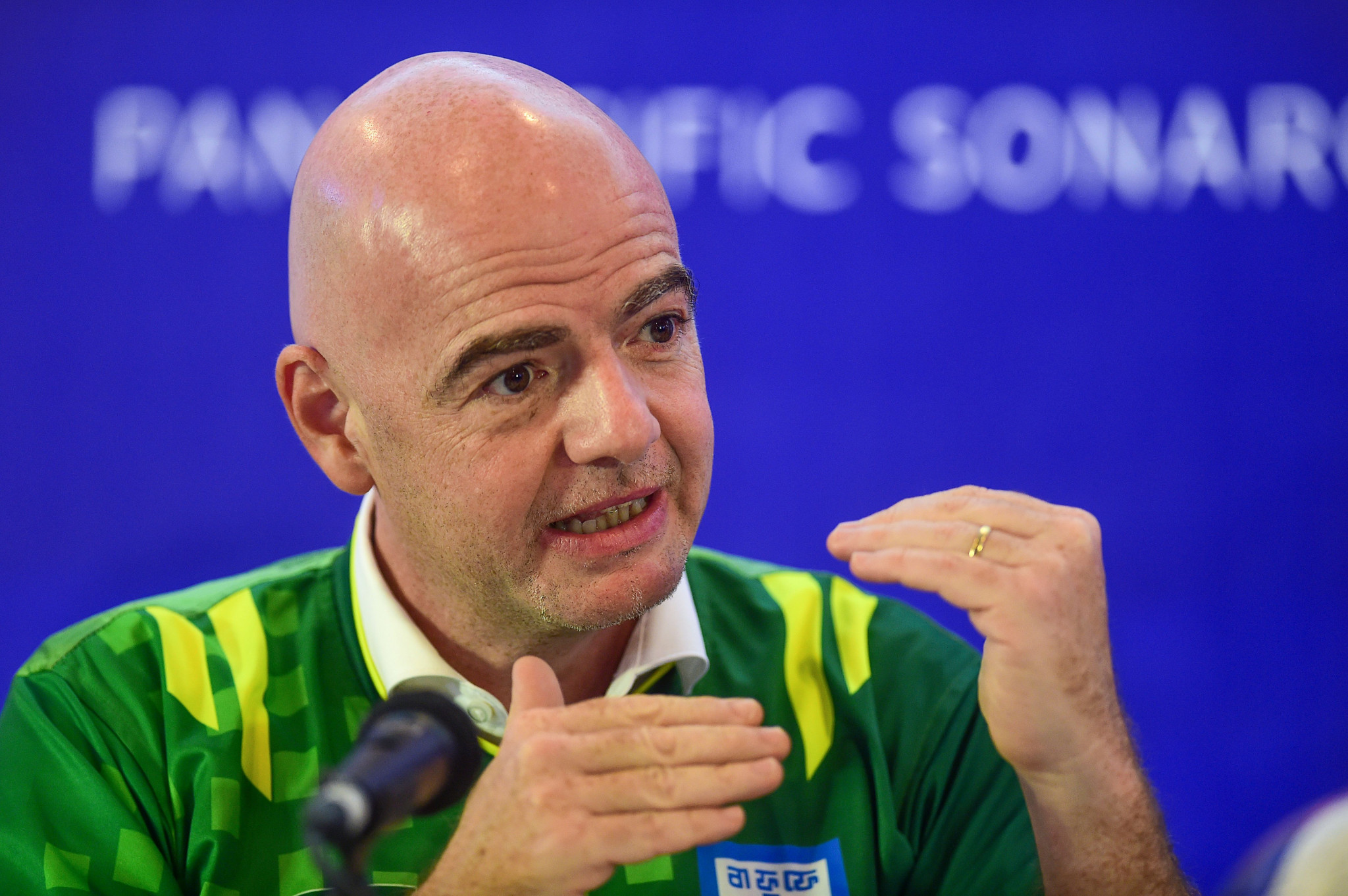 FIFA President Gianni Infantino spearheaded the expansion of the Club World Cup to 24 teams ©Getty Images
