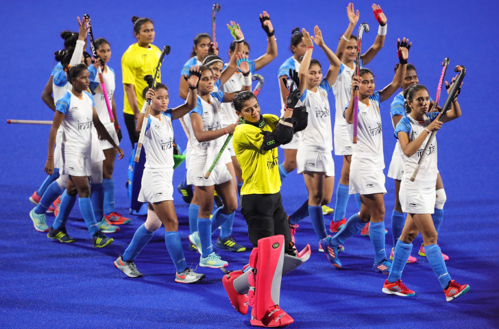 India's women's hockey team, silver medallists at last year's Asian Games, are seeking qualification for a second successive Olympics ©Getty Images
