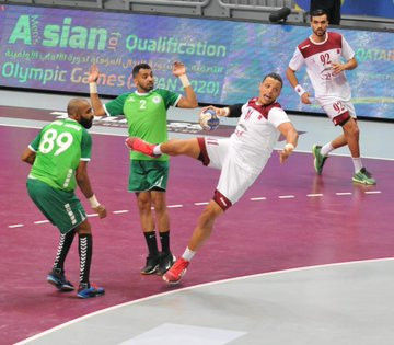 Hosts Qatar secure top spot in Group A at Asian men's handball Tokyo 2020 qualifier