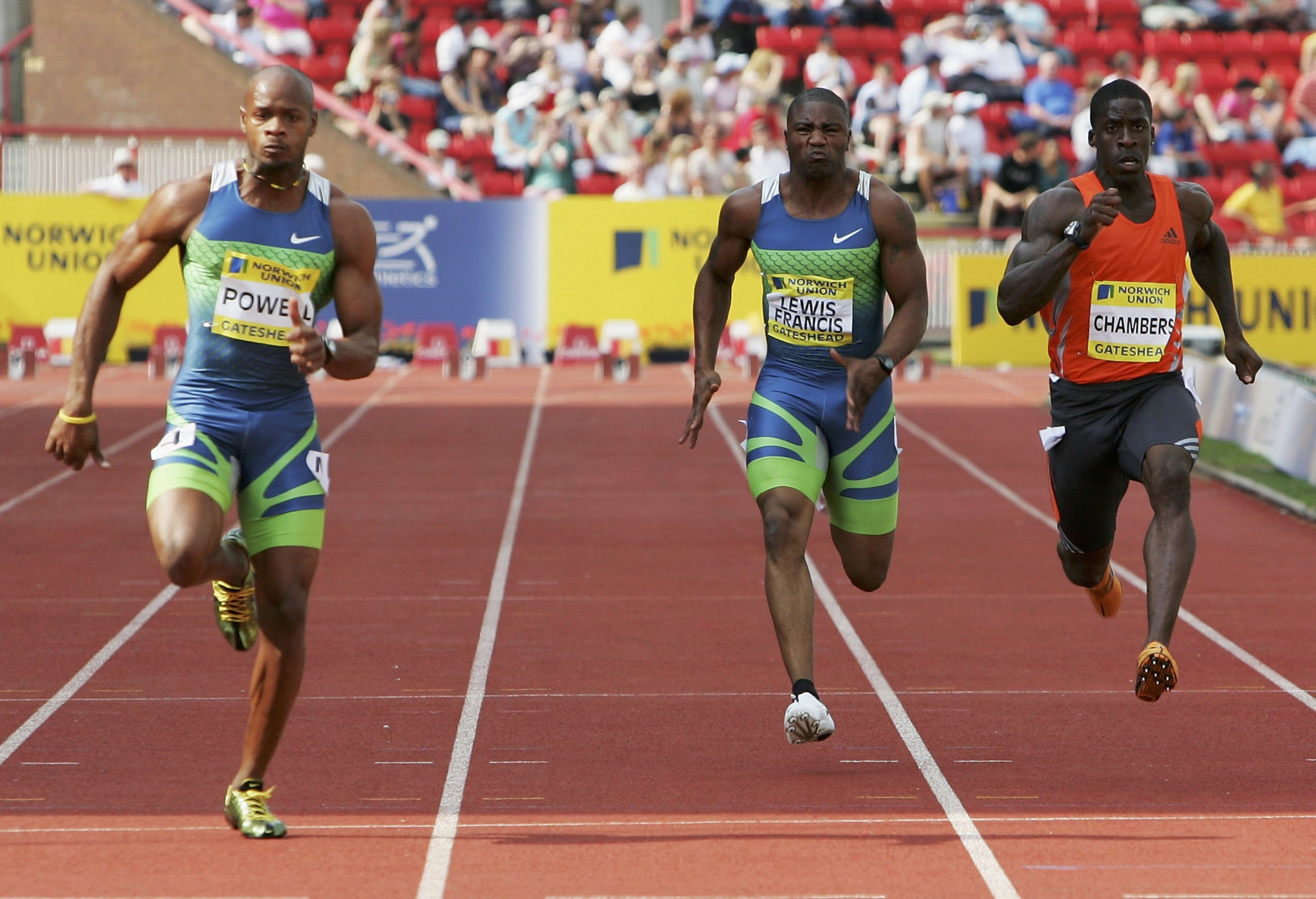 Jamaica's Asafa Powell equalled the world record for the 100 metres at the 2006 IAAF Diamond meeting in Gateshead and the venue in the North-East of England is set to return to the circuit in 2020 ©Getty Images