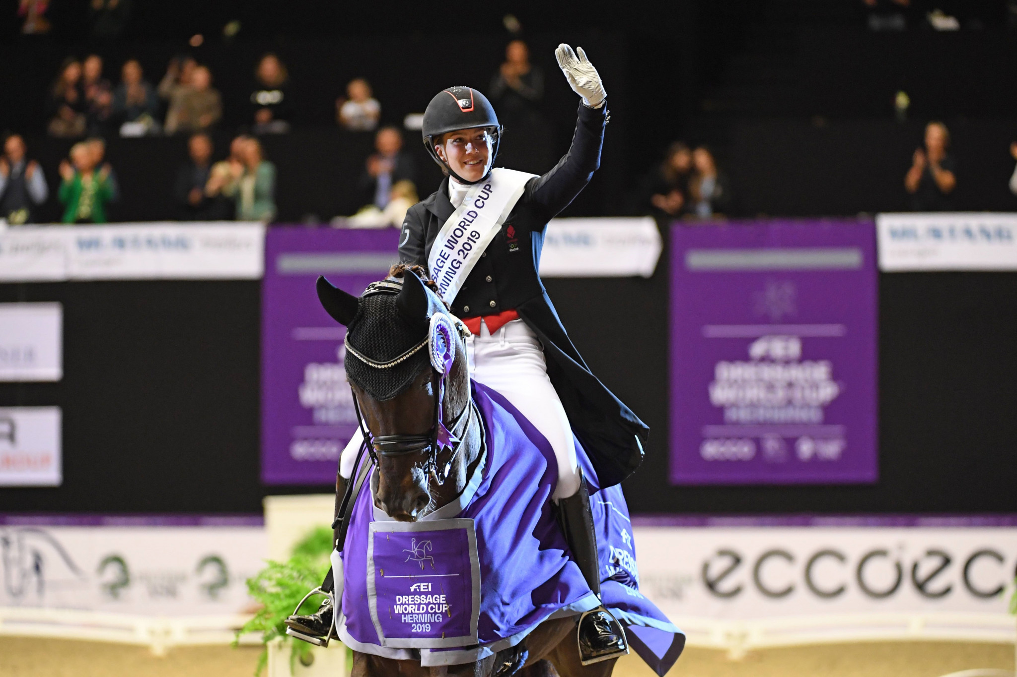 Home favourite Dufour triumphs at FEI Dressage World Cup Western European League opener in Herning