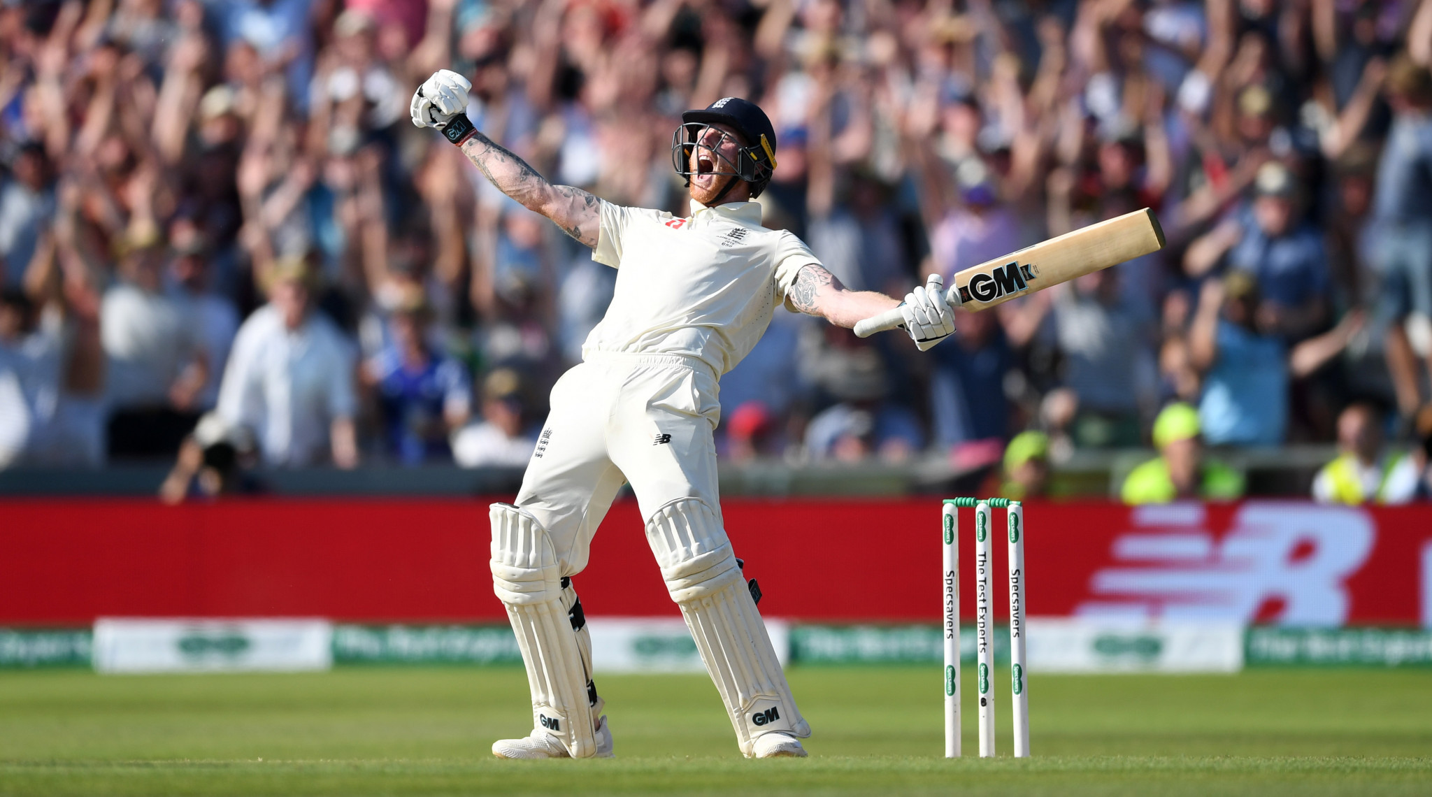 One of the iconic moments of the sporting year - Ben Stokes at Headingley, delivering England the third Ashes test almost single-handedly ©Getty Images