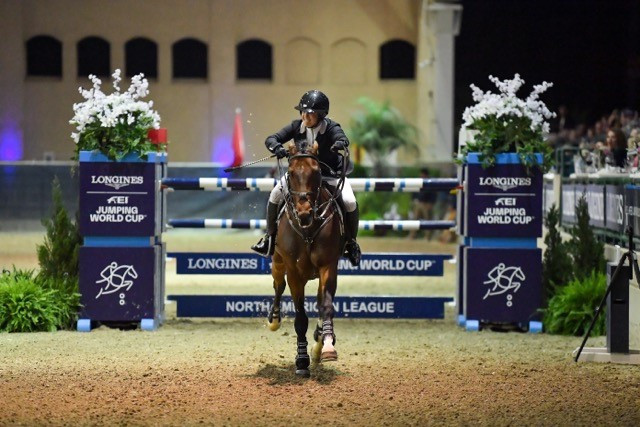 Bond holds nerve to claim FEI Jumping World Cup win after five-horse jump off