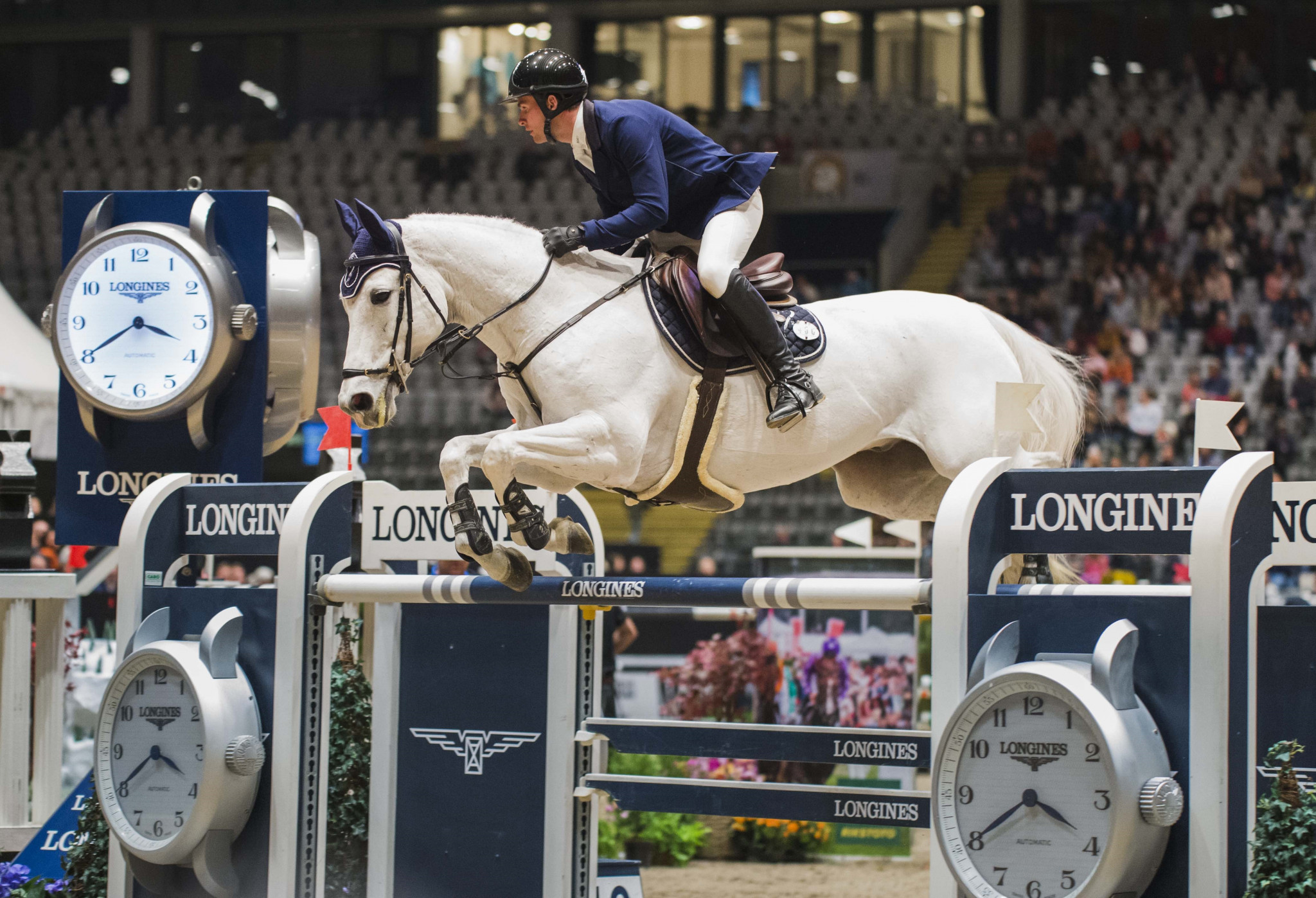Young Swiss Balsiger wins FEI Jumping World Cup Western European League opener in Oslo