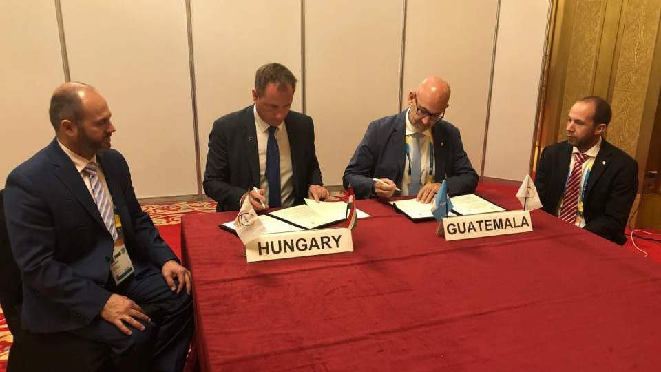Guatemala sign partnership agreement with Hungarian Olympic Committee