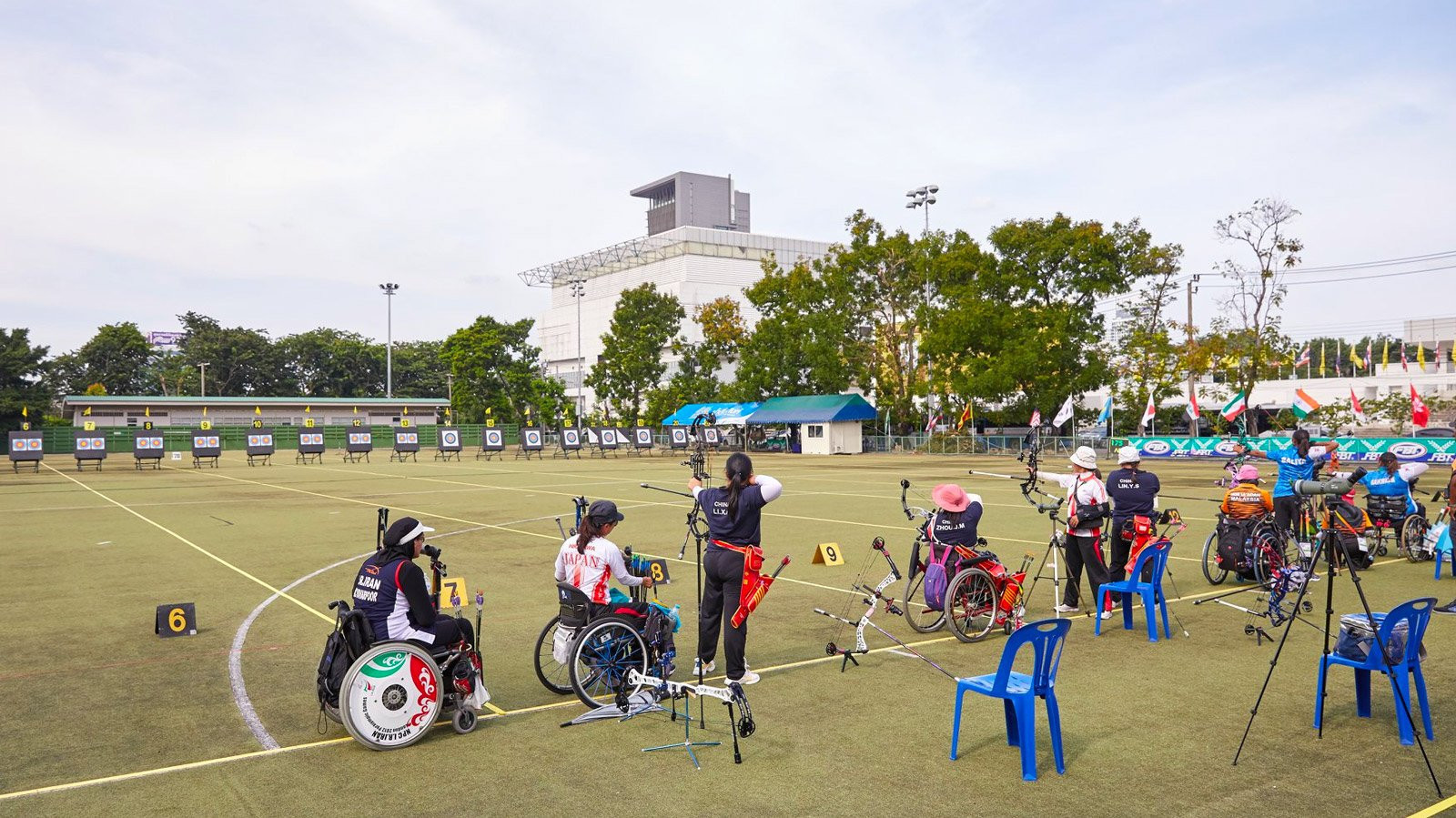 China booked their spots in the mixed recurve and compound women's finals as the team knockout stage began at the Asian Para Archery Championships ©World Archery