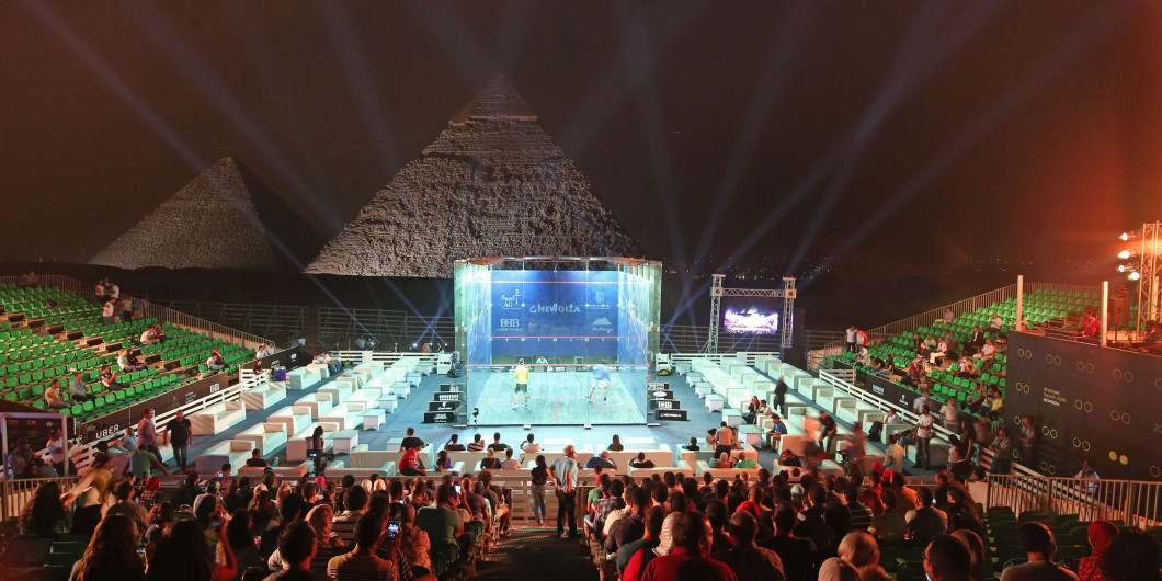 The tournament will take place in front of the Pyramids of Giza ©PSA