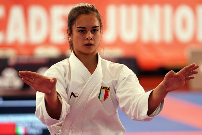 Sonia Inzoli of Italy was the victor in the cadet female kata ©WKF