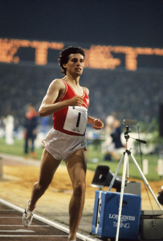Sebastian Coe's relationship with Nike stretched back to 1978 and he wore their shoes when he broke several world records, including the mile at Brussels in 1981 ©Hulton Archive/Getty Images