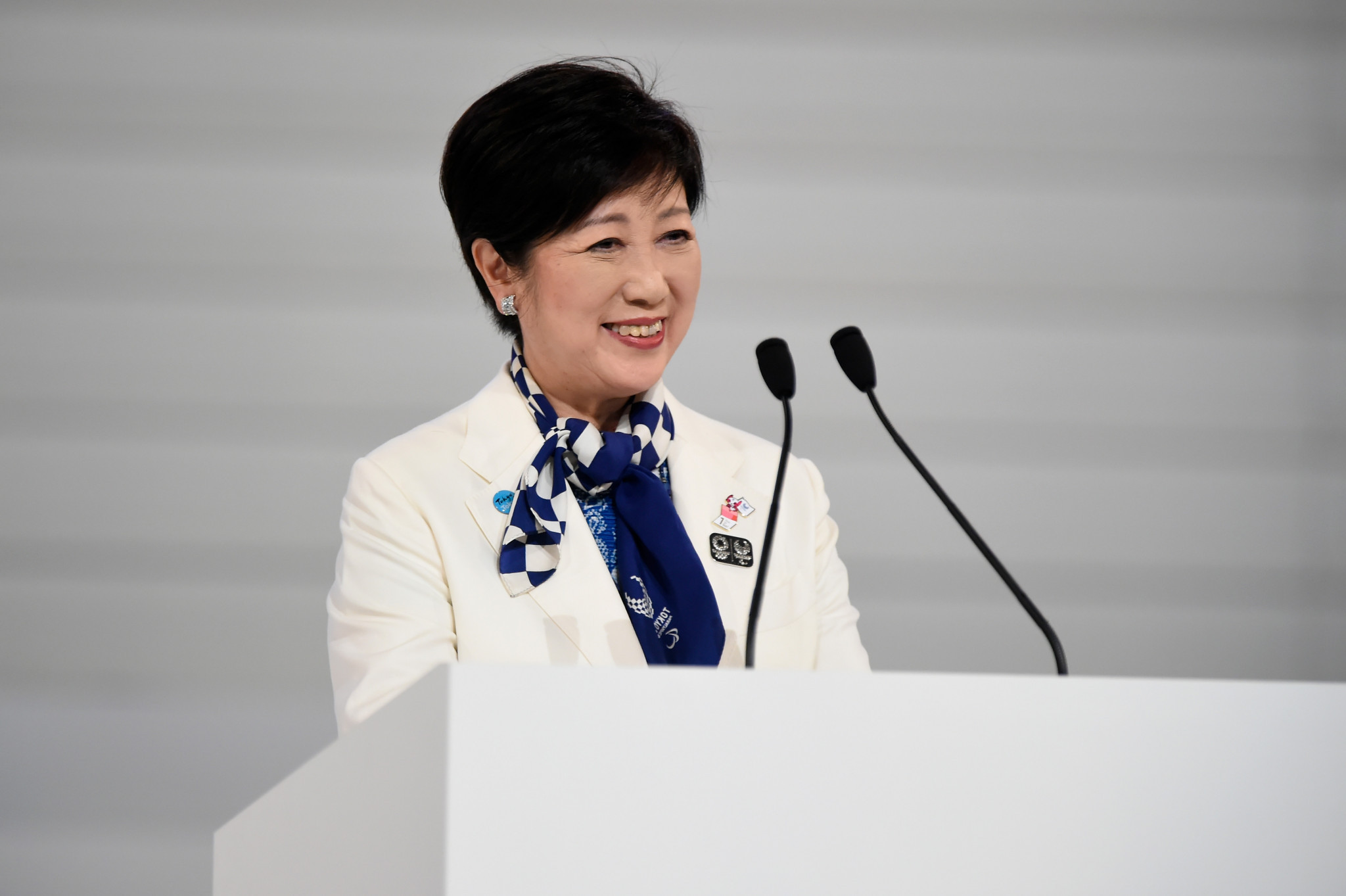 Tokyo Governor Yuriko Koike was critical of the decision to move the events outside of the Japanese capital ©Getty Images