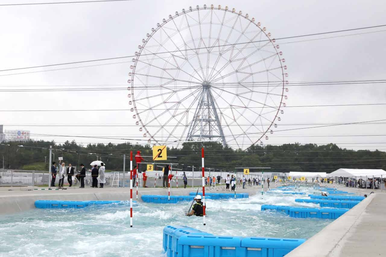 The Kasai Canoe Slalom Centre will be under scrutiny at tomorrow's Tokyo 2020 test event ©ICF