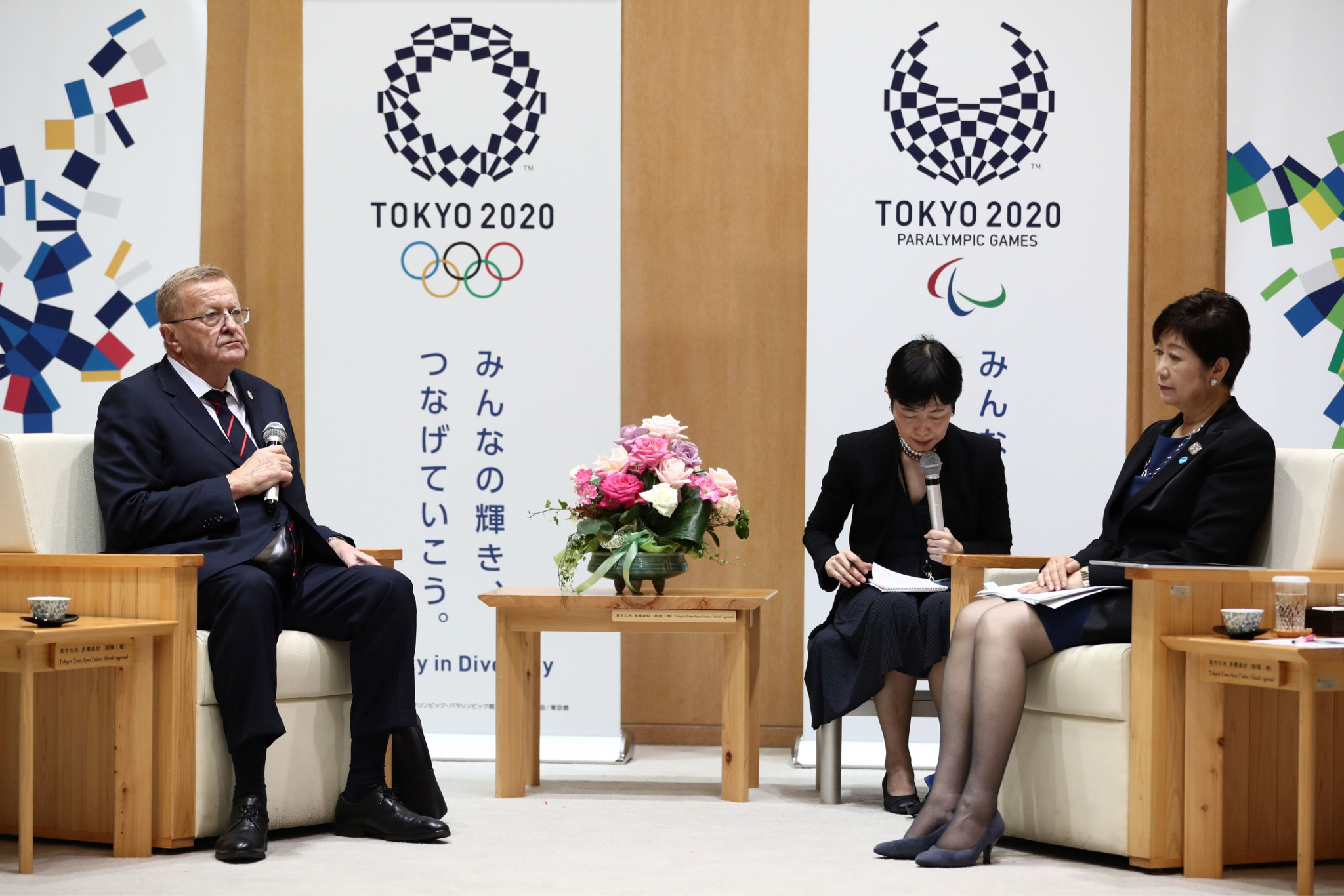 John Coates met with Tokyo Governor Yuriko Koike today ©Getty Images