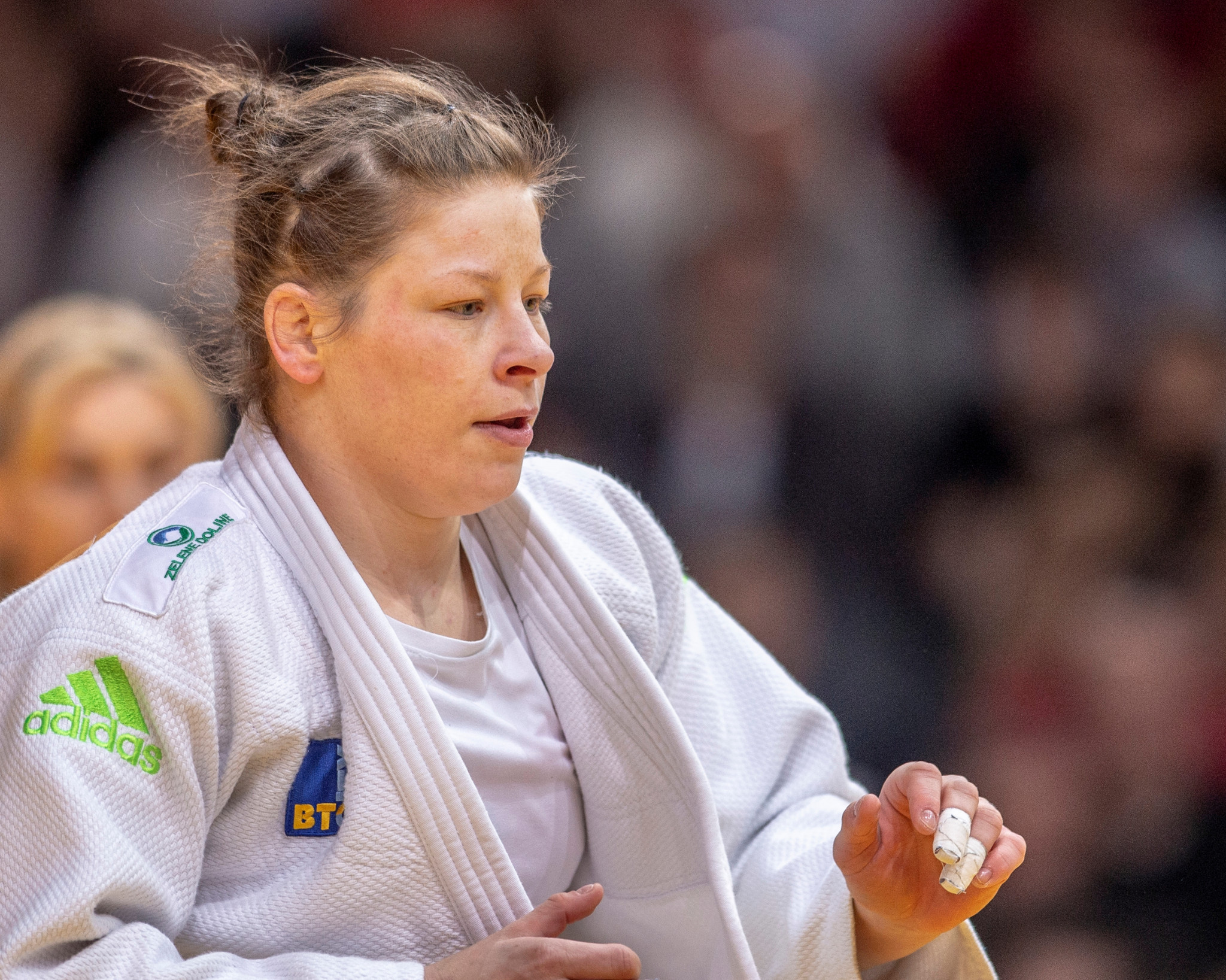 Tina Trstenjak won the women's under-63kg event ©Getty Images