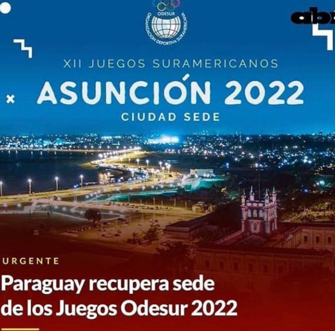 Paraguay Olympic Committee thank Government after Asunción reinstated as 2022 South American Games host