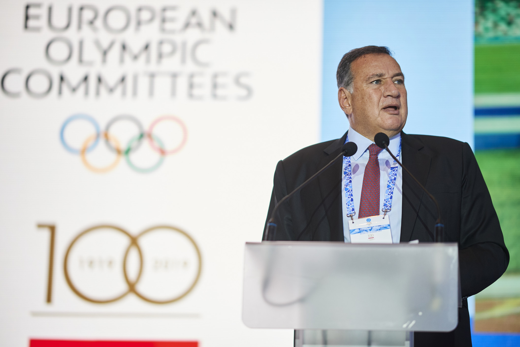 Minsk 2019 Coordination Commission chairman Spyros Capralos urged the EOC to find a way of making the European Games sustainable ©EOC