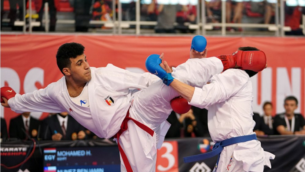 Egypt won three titles on the third day of the event ©WKF