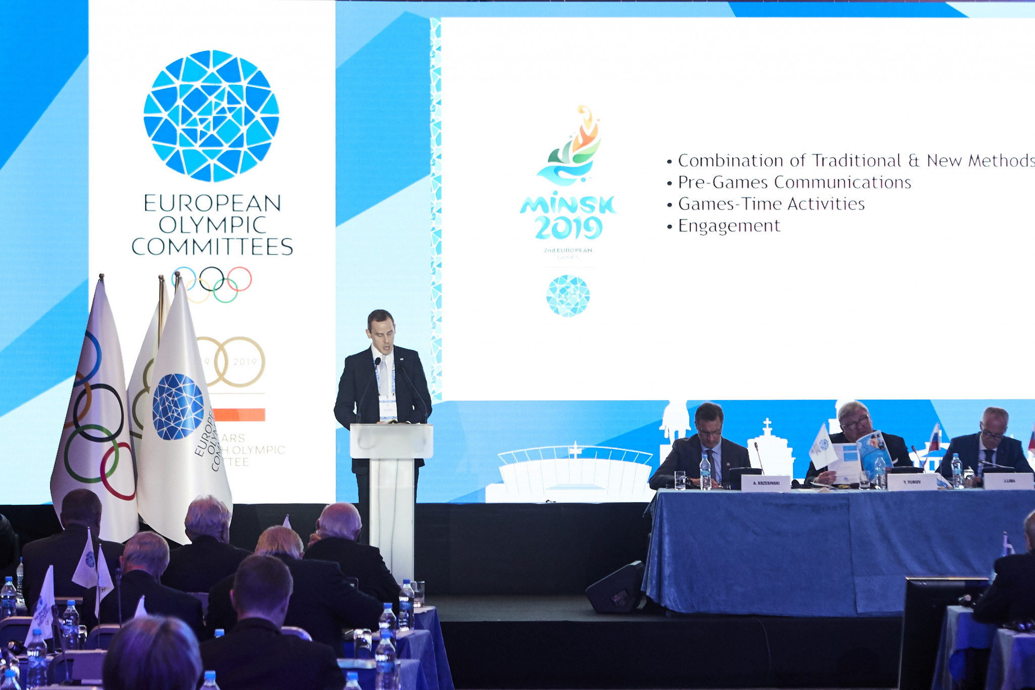 A final report was given on June's European Games in Minsk ©EOC