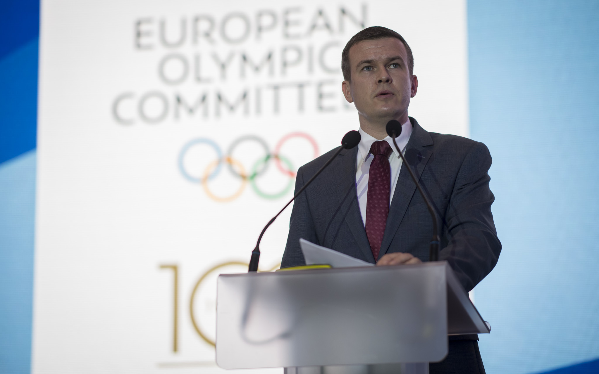 Future World Anti-Doping Agency President Witold Bańka spoke as the Polish Minister for Sport and Tourism ©EOC