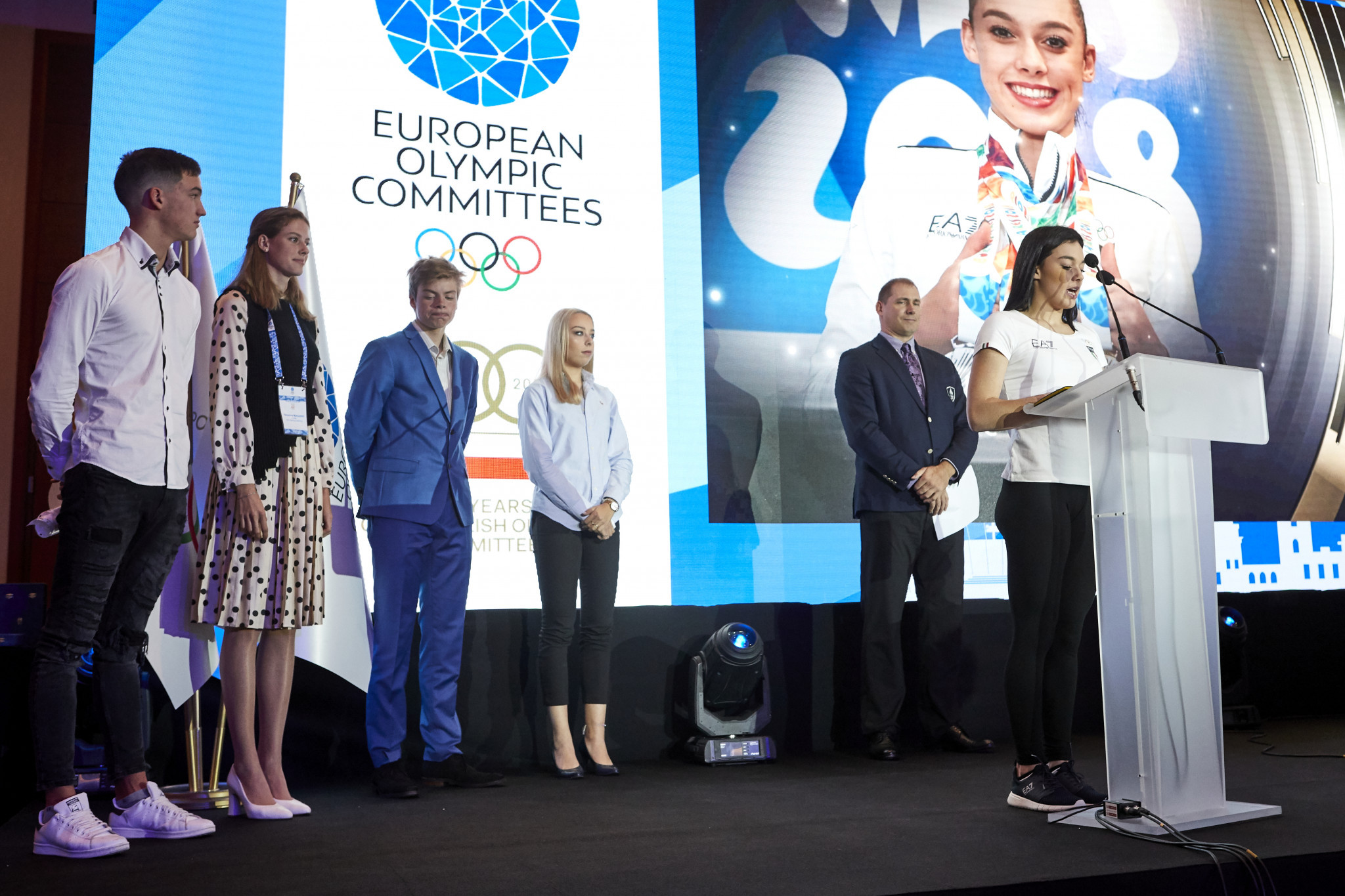 The five athletes nominated for the summer edition of the Piotr Nurowski prize were presented ©EOC