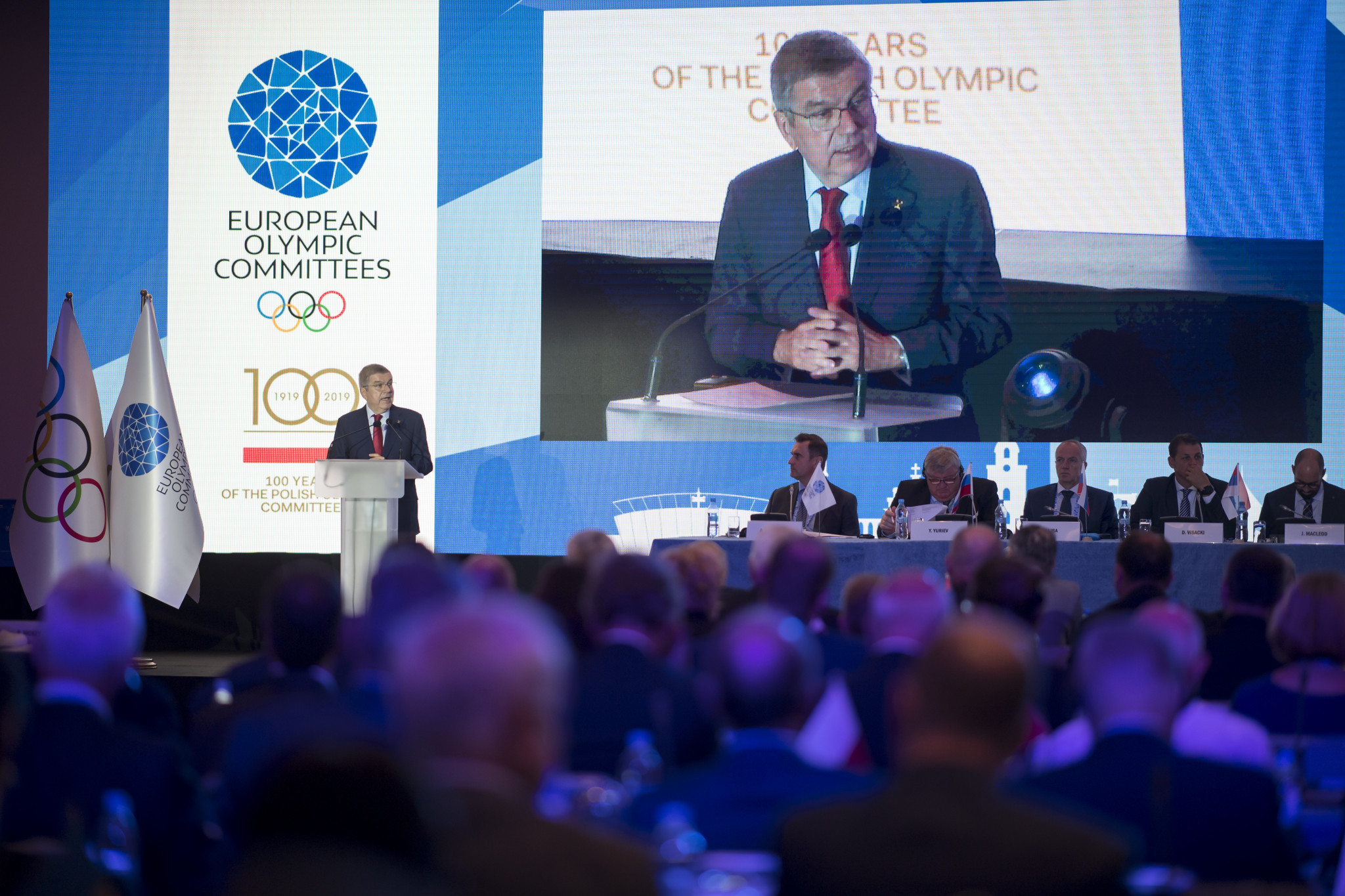 International Olympic Committee President Thomas Bach opened the General Assembly with a speech ©EOC