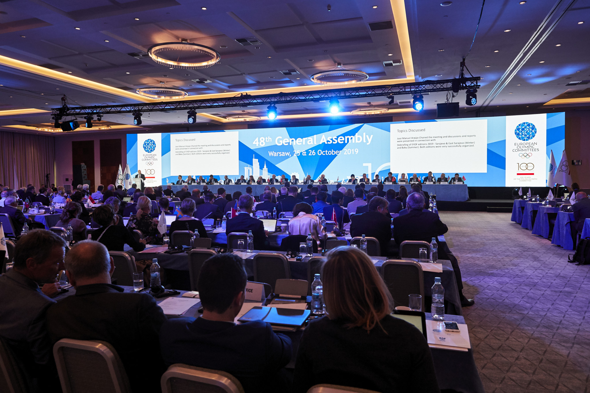 The two-day General Assembly came to close with Istanbul announced as the location for 2020 ©EOC