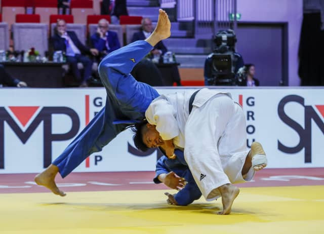 Cho Guham contributed to South Korea's success with victory over Zelym Kotsoiev of Azerbaijan ©IJF