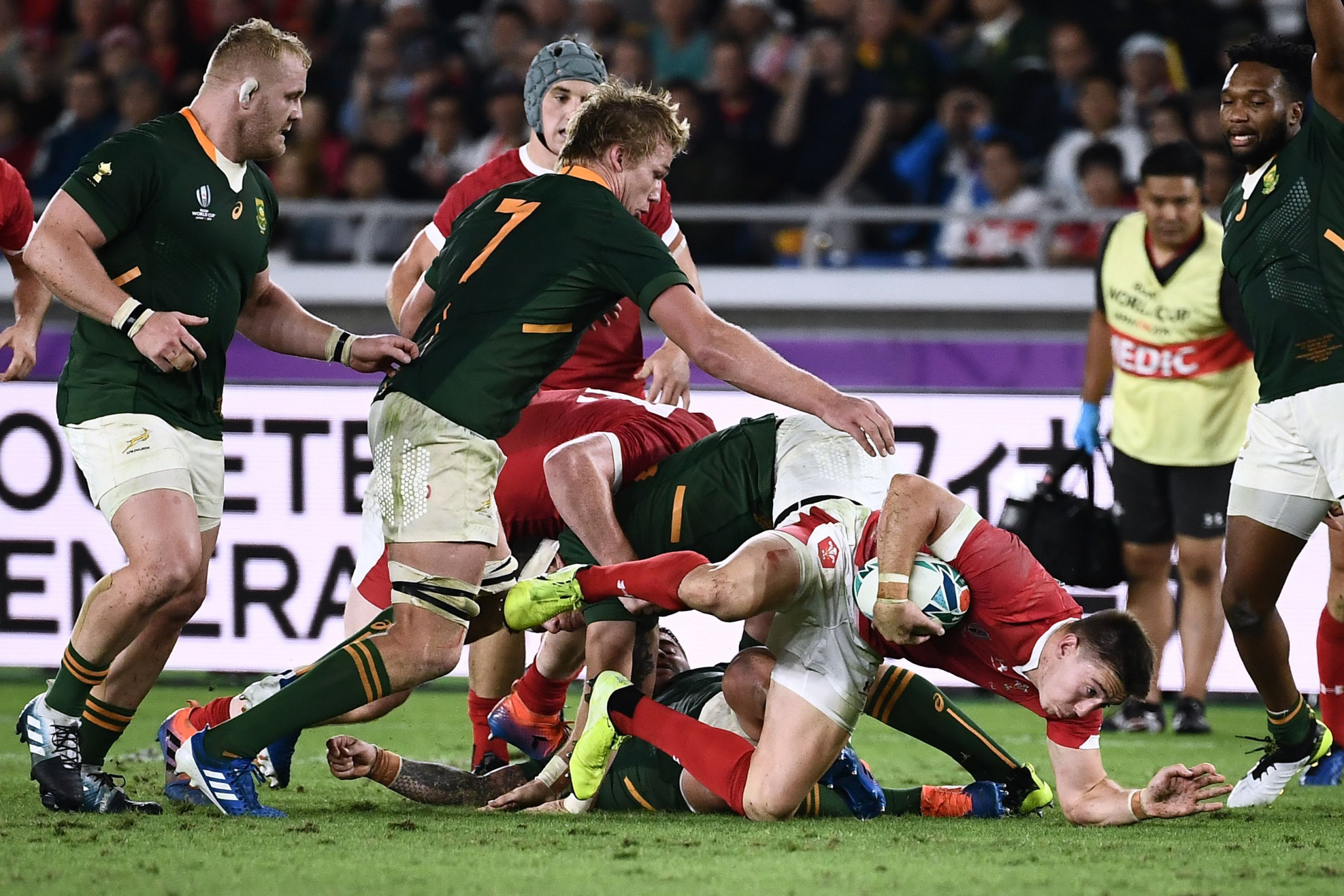 Josh Adams replied for Wales shortly after to set up a tense finale ©Getty Images