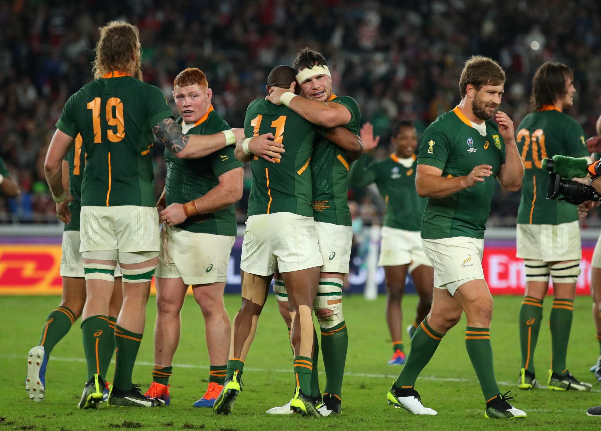 South Africa celebrated at the final whistle ©Getty Images