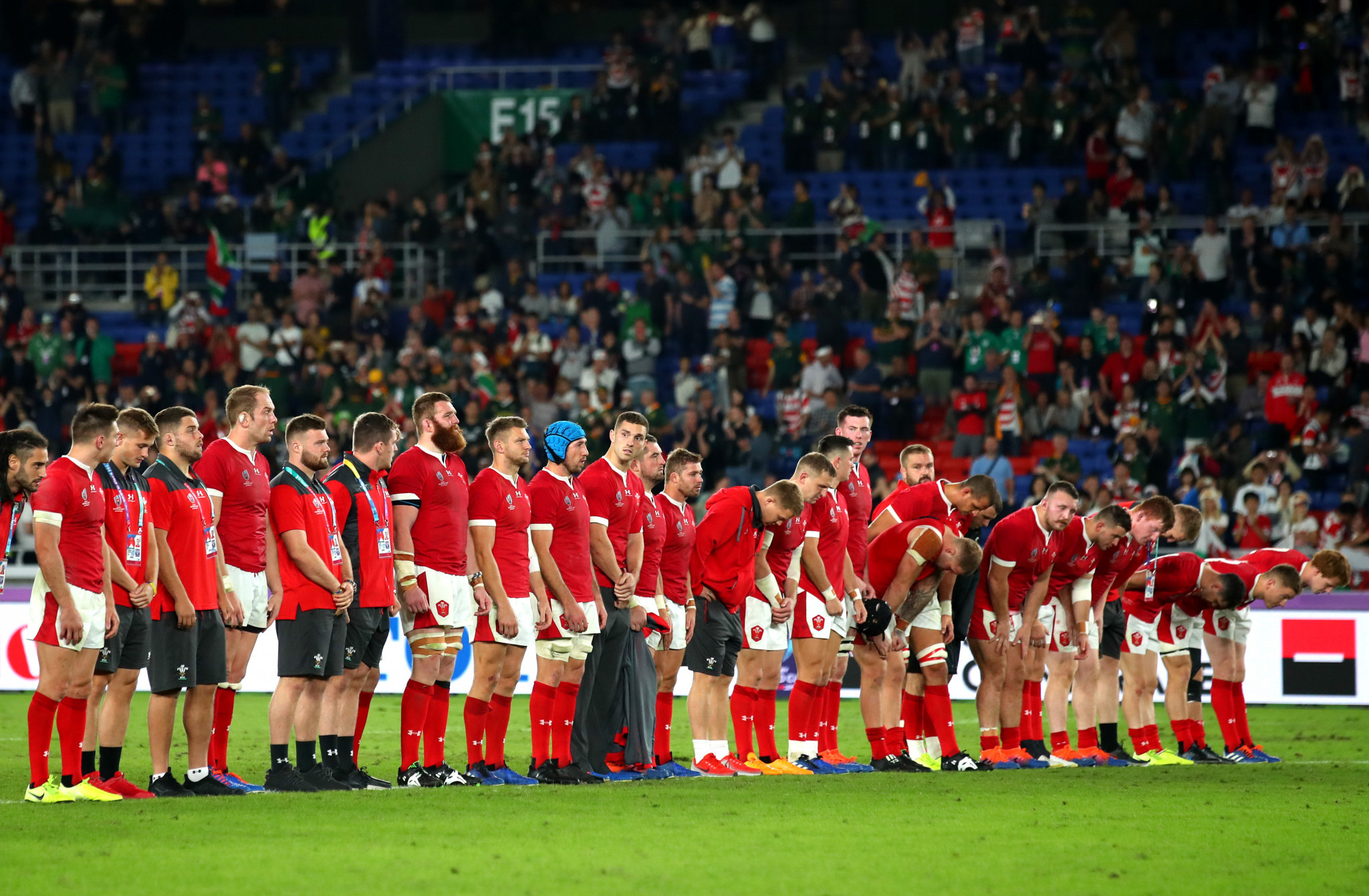 Wales were desolate at the final whistle following their heartbreaking exit ©Getty Images