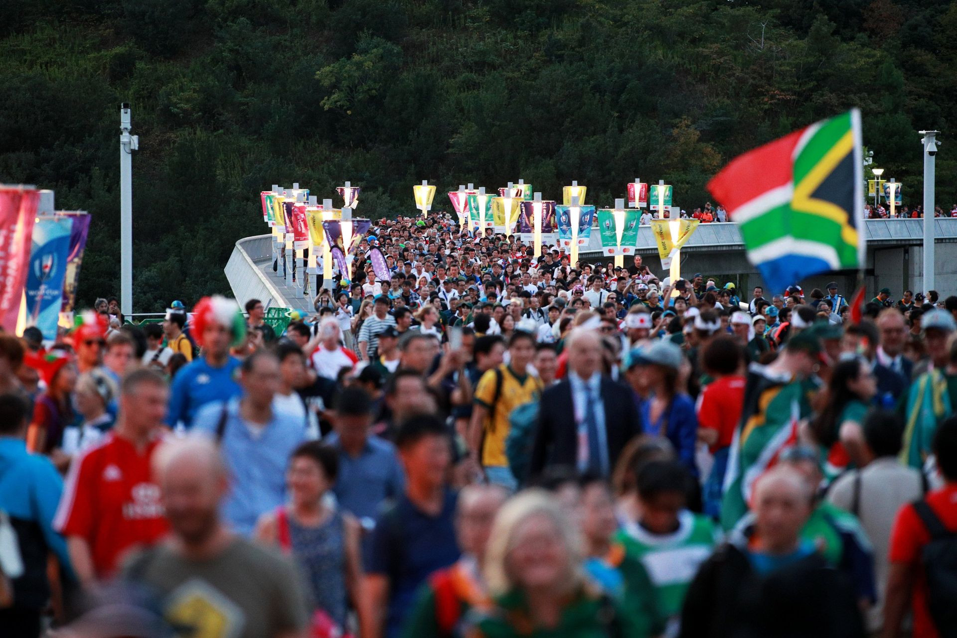 World Rugby have announced record attendance figures for the fanzones at the World Cup ©World Rugby