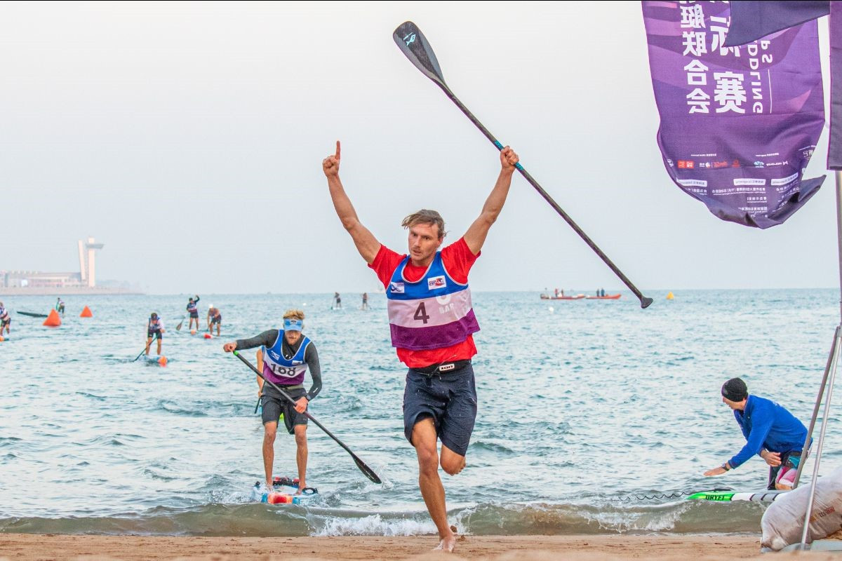 Lincoln Dews of Australia triumphed in the men's technical race ©ICF