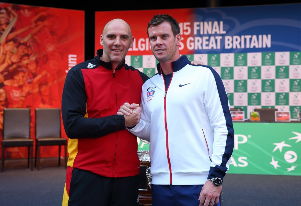 The announcement came ahead of the start of the Davis Cup final between Britain and Belgium
