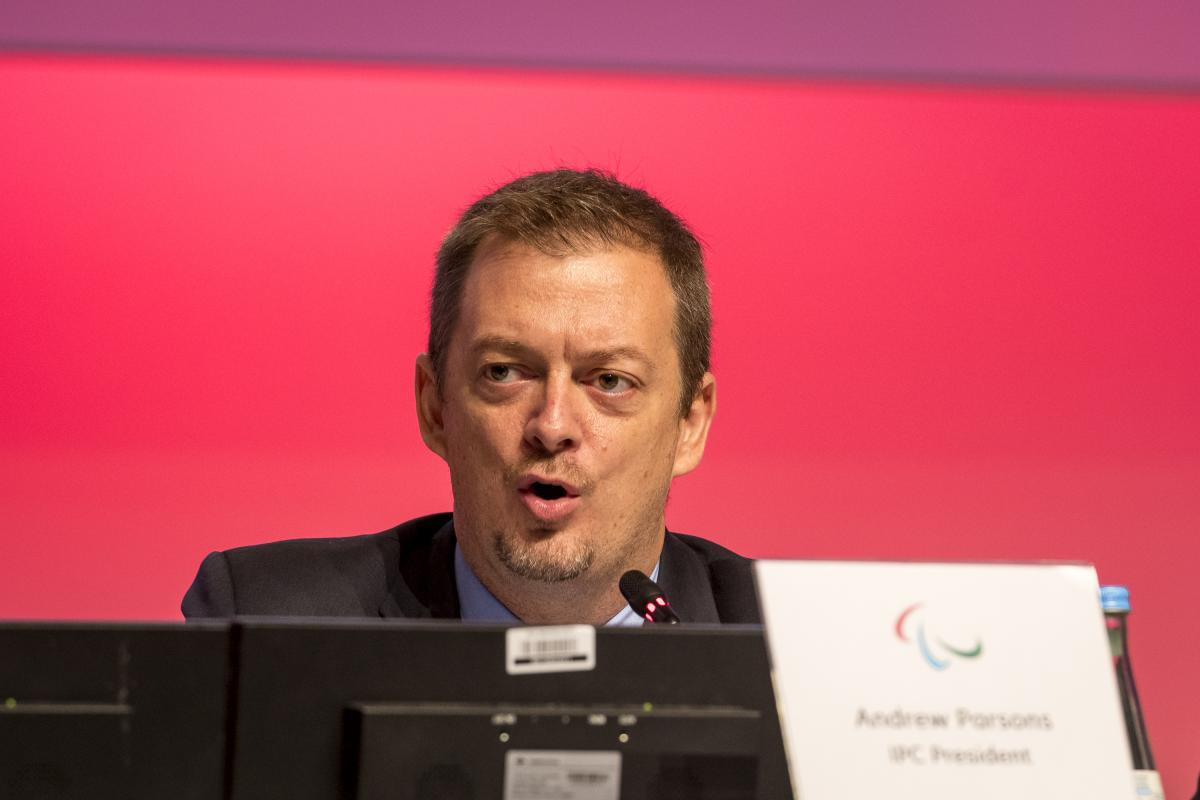Parsons claims IPC relations with IOC at all-time high at General Assembly