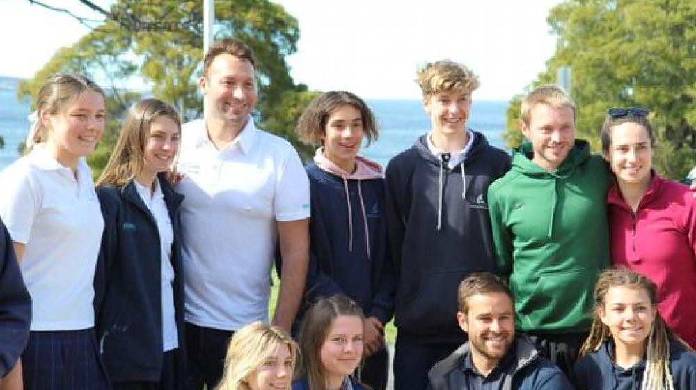 Australia's most decorated Olympian visited a high school in Hobart ©AOC