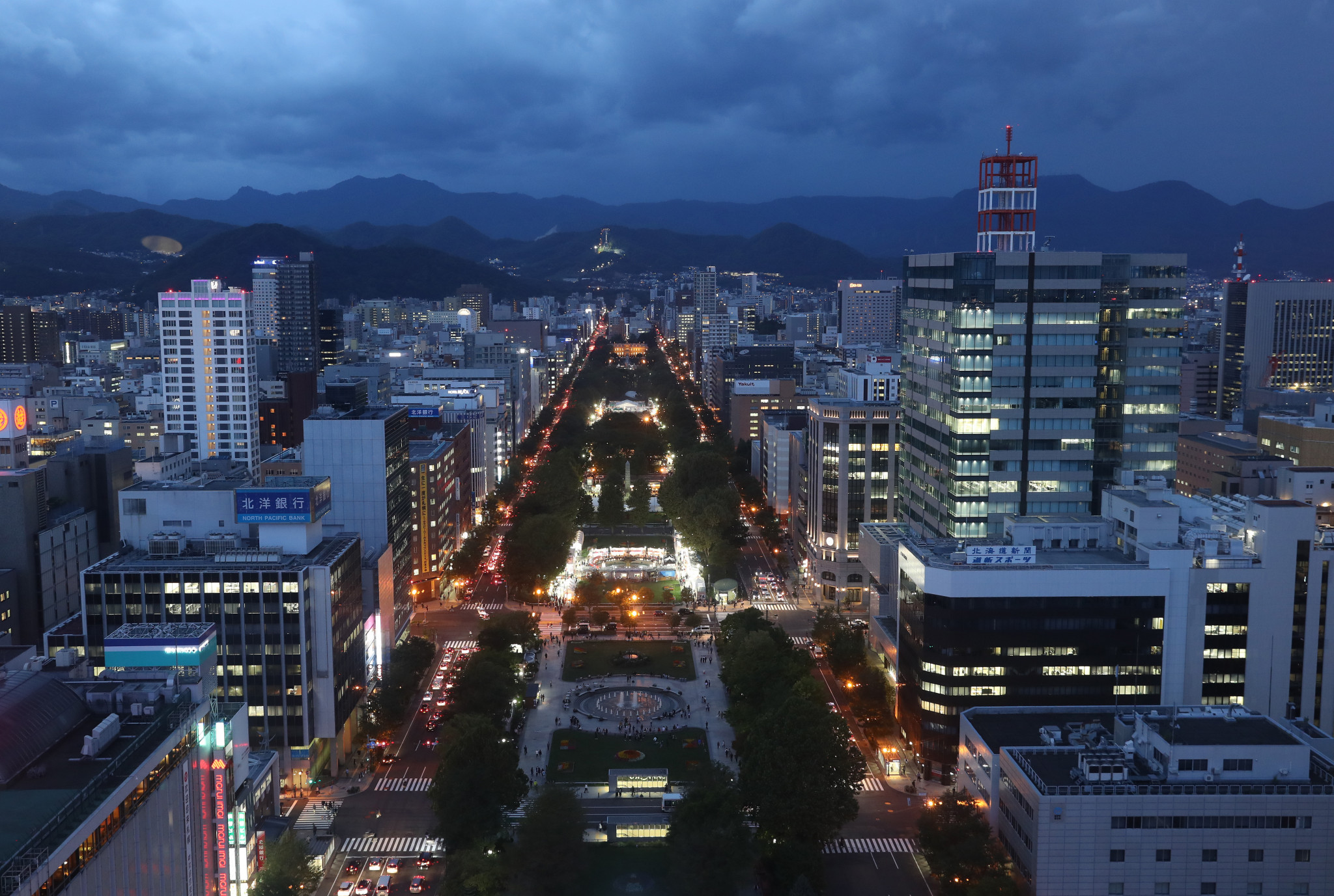 Odori Park is reportedly being considered to host the start and finish of the marathon races in Sapporo ©Getty Images
