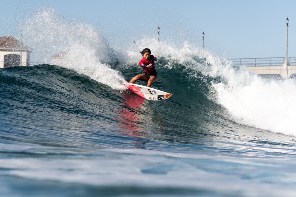 Japan's Kana Nakashio shone in the u-16s ©ISA Surf