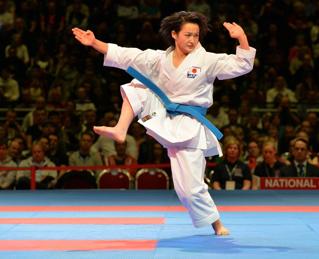 Kiyou Shimizu reached the final of the women's kata competition in Rotterdam today ©WKF