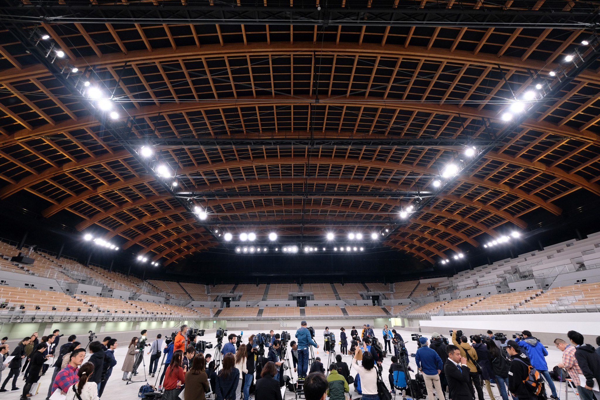 Tokyo 2020 have unveiled the completed Ariake Gymnastics Centre ©Getty Images