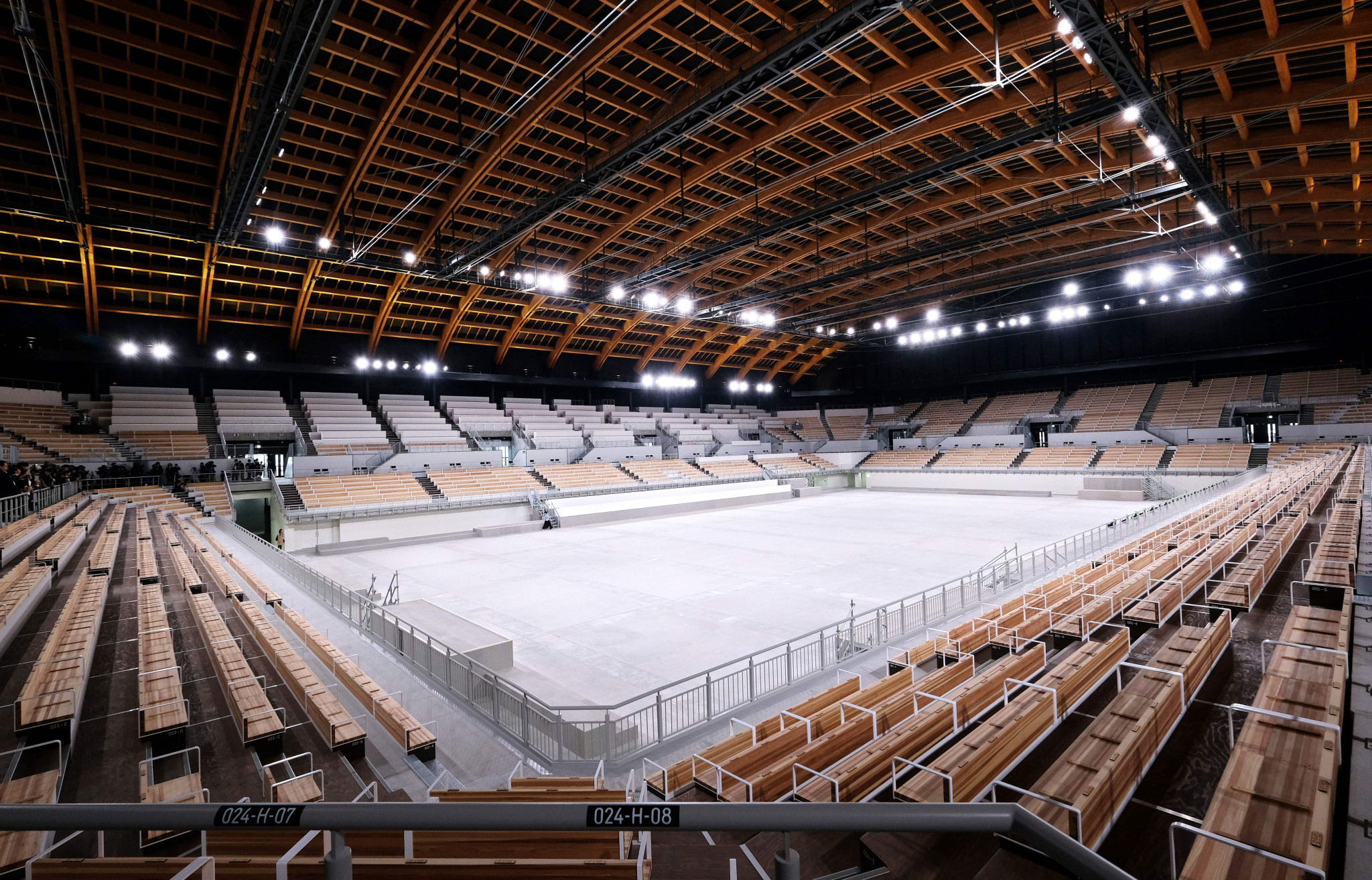 The venue features a 30 metre wide timber roof ©Getty Images
