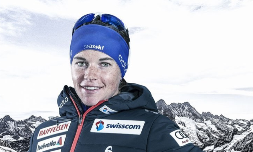 Nathalie von Siebenthal was u-23 skiathlon world champion in 2015 ©Instagram