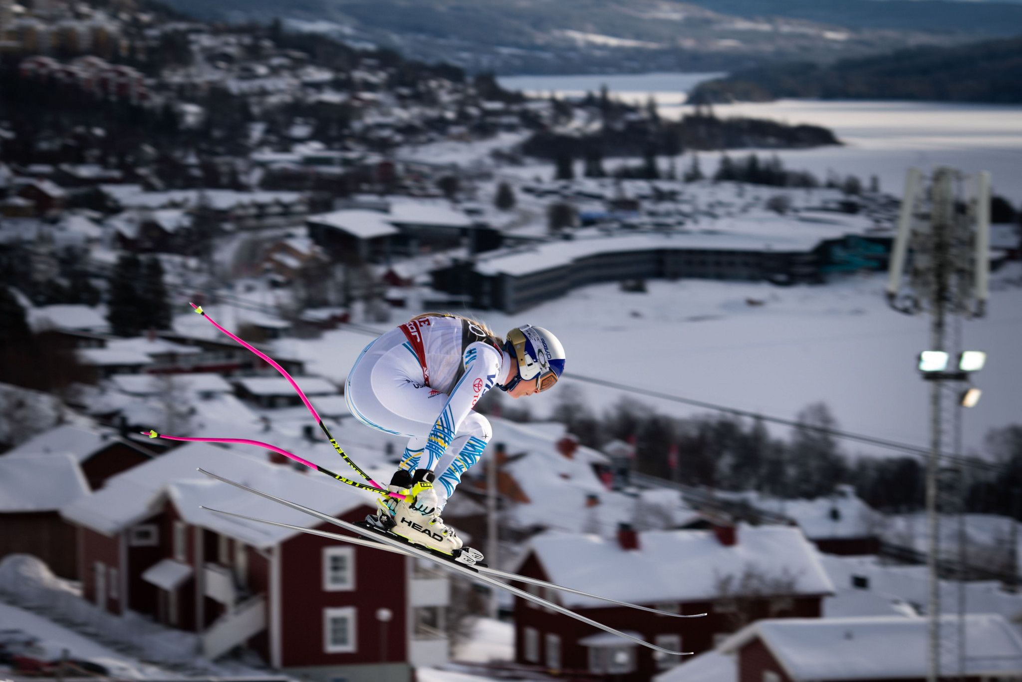 Fabrice Coffrini's winning picture of Lindsey Vonn was taken during the FIS Alpine World Championships in Åre ©Getty Images