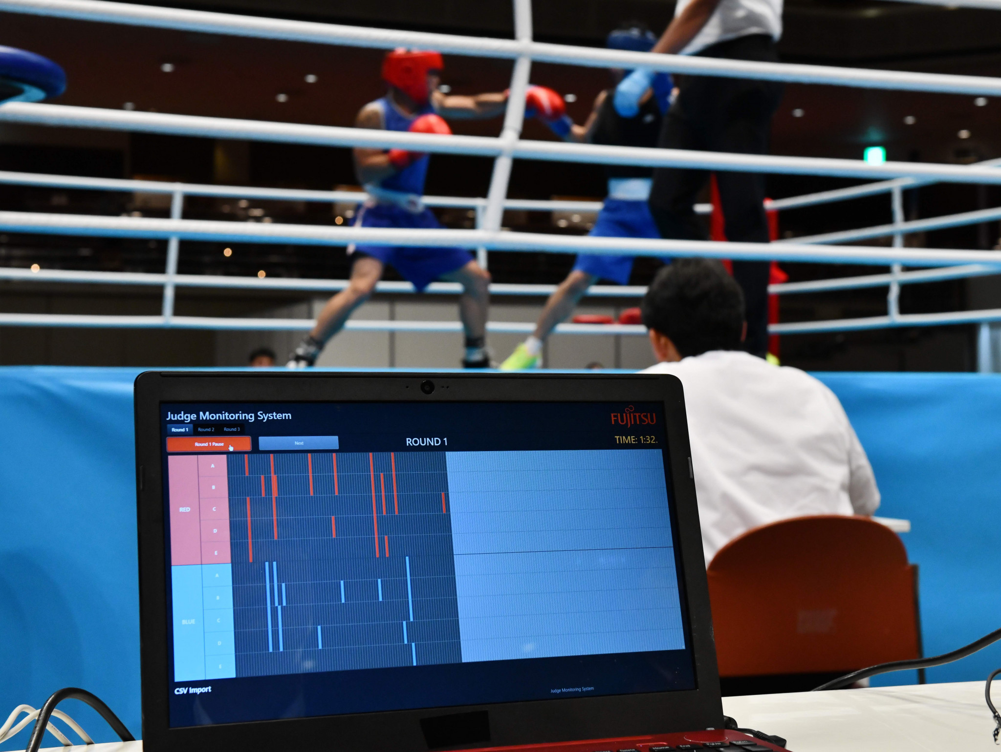 A judges monitoring system was introduced by the IOC boxing taskforce at a Tokyo 2020 test event ©Getty Images